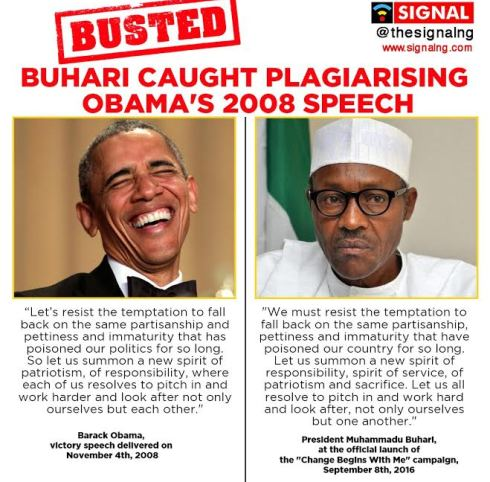 Photo of VIRAL: BUHARI PLAGIARISING OBAMA'S SPEECH