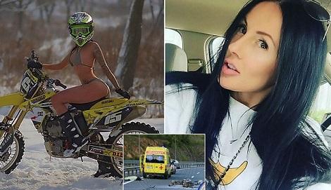 Photo of Instagram Star Known For Saucy Stunts On Motorbike Dies In Horrific Crash