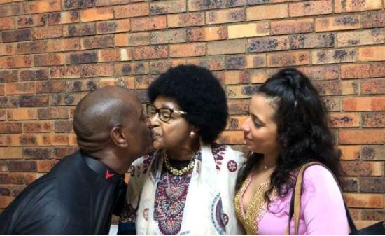 Tyrese Gibson kisses Winnie Mandela on the lips