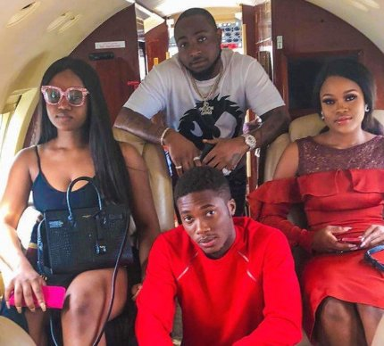 Photo of Cee C flew back to Lagos with Davido & Chioma in a private jet (video)