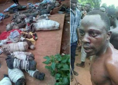 Suspected ritualists apprehended with roasted babies in Uganda(photos)