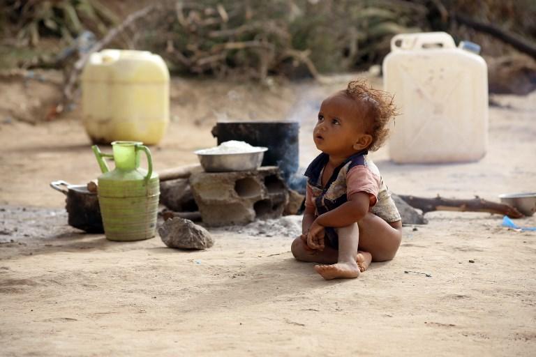 Photo of Photos of displaced children in Yemen conflict