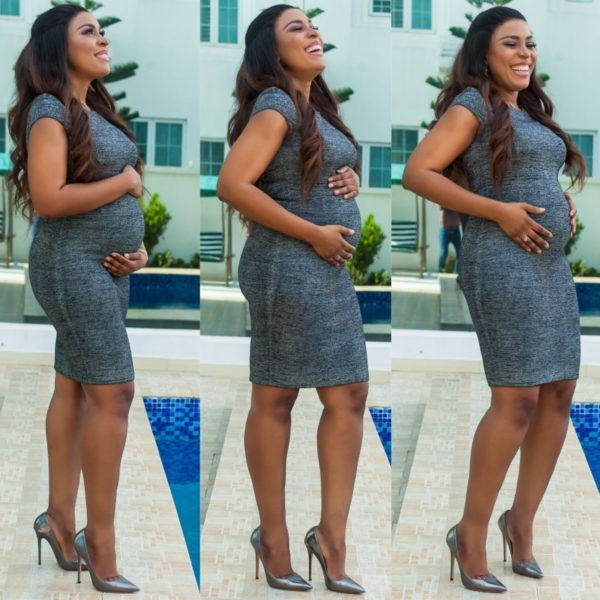 Photo of Popular blogger Linda Ikeji five months pregnant