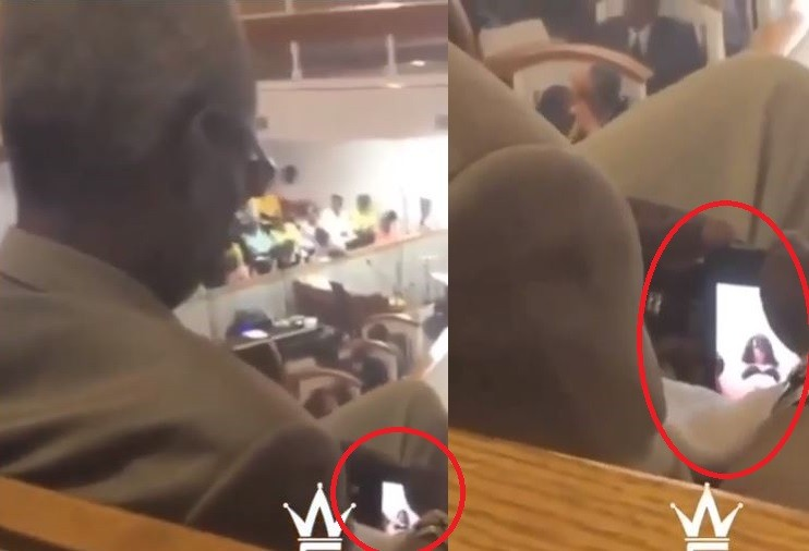 Photo of Elderly man caught watching sexually explicit video during church service