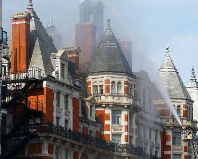 Fire guts Mandarin Oriental hotel in Central London