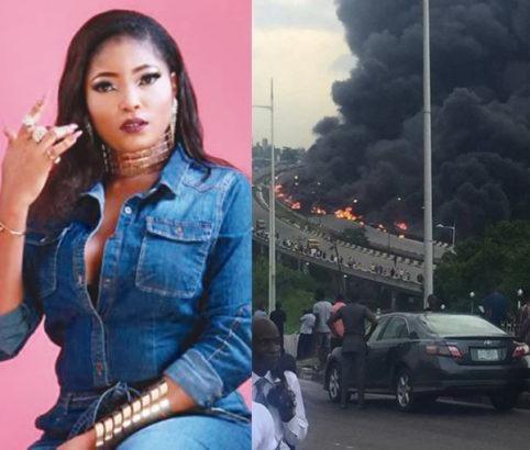 Photo of I saw the Otedola bridge fire in my dream – Actress Habibat Jinad