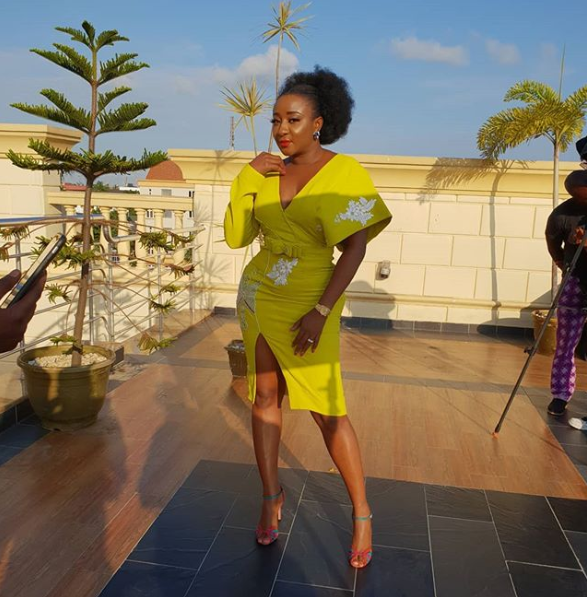 Ini Edo sparks engagement speculations after she flaunts ring on her left ring finger