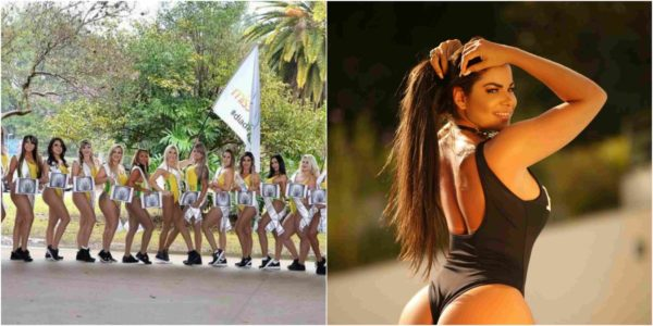 Photo of Miss bumbum contestants pose with X-rays of their butts to prove they are real