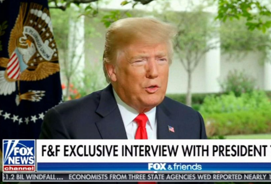 """Photo of Trump says stock market would crash and """"everybody would be very poor"""" if he is impeached"""