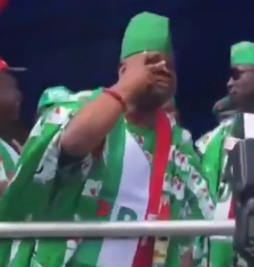 Video of dancing senator, Ademola Adeleke, dishing hot steps at PDP rally in Osun state