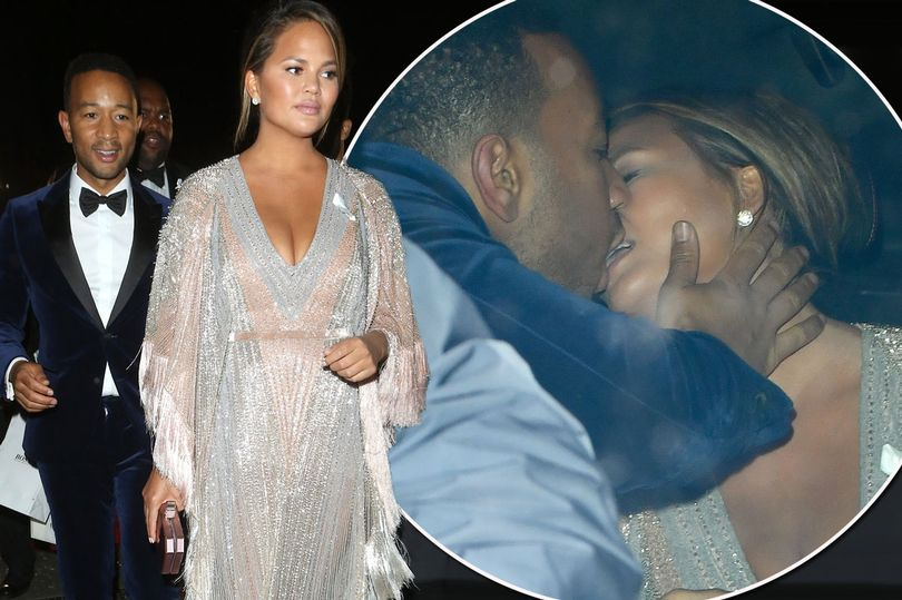 Photo of Chrissy Teigen and John Legend caught putting on very steamy display as they grab alone time after GQ Awards