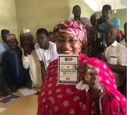 Former Minister for women affairs, Aisha Alhassan dumps APC for UDP
