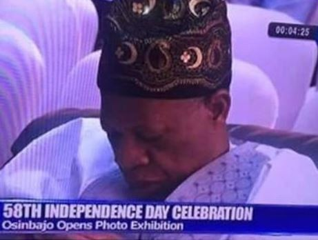 Minister of Information, Lai Mohammed caught sleeping on live TV (Photo)