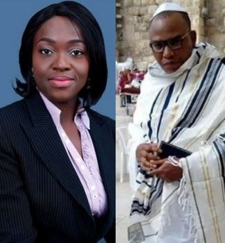 Presidential aspirant Eunice Atuejide reacts to Nnamdi Kanu's re-emergence in Israel