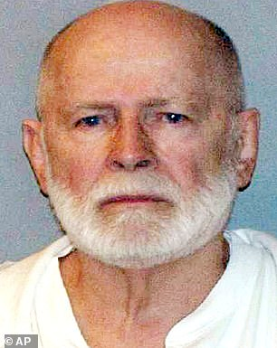 """Photo of Boston gangster Whitey Bulger, 89, """"is killed"""" in prison shortly after he is transferred to federal prison in West Virginia"""