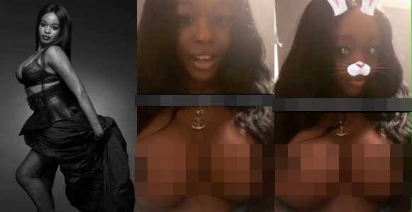 Photo of Azealia Banks' nudes leaks online as she shows off her new giant breast implants +18