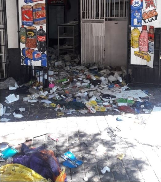 Photo of Nigerian-owned shops burnt in South Africa in fresh Xenophobic attacks