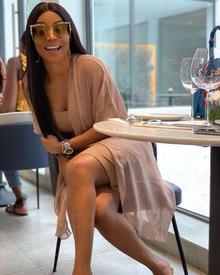 Toke Makinwa reacts to Wizkid's video featuring Tiwa Savage