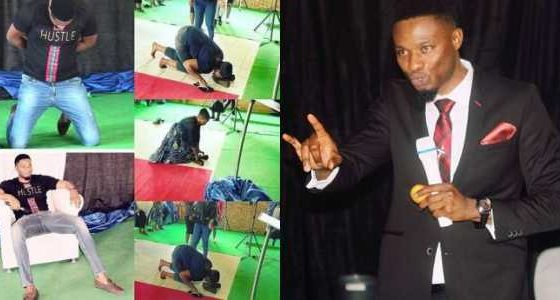 South African pastor subjects members lick his shoes for miracle money