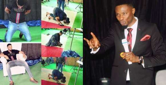 Photo of South African pastor subjects members lick his shoes for miracle money