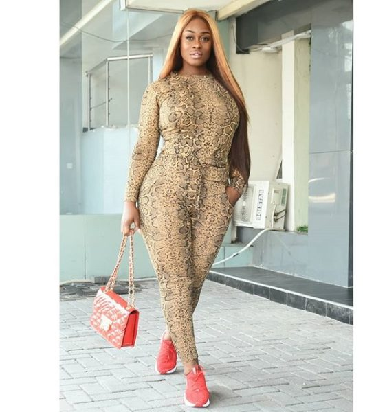 BBNaija's Uriel Steps Out In Snake-Skinned Outfit