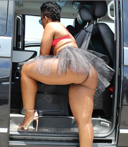 South African dancer Zodwa Wabantu goes underwear free to flaunt her butt