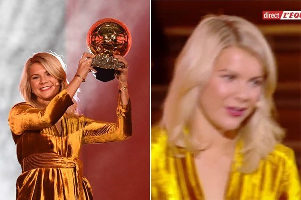Ballon d'Or winner Ada Hegerberg was asked on stage whether she can twerk by host Martin Solveig at tonight's award ceremony.