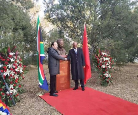 China unveils Nelson Mandela statue to mark diplomatic relations with South Africa