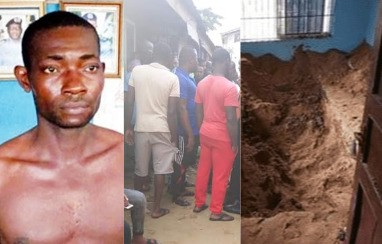 Photo of Police exhume body of lady killed and buried by her boyfriend in Rivers