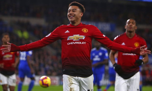 Lingard scores twice as Manchester United hit five past hopeless Cardiff under new coach Ole Gunnar Solskjaer