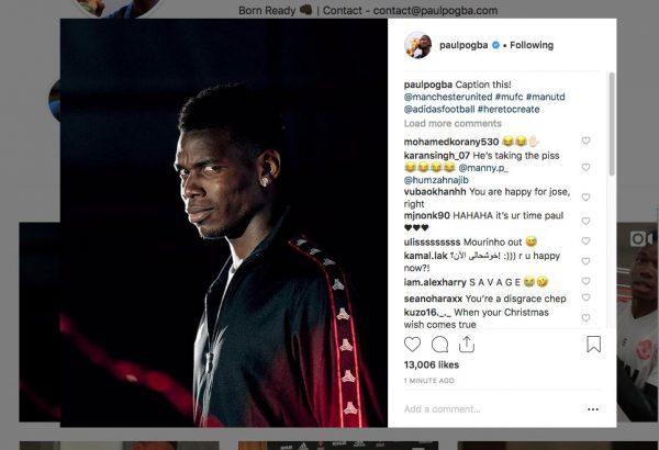 Photo of Pogba greets Mourinho's sack with the side-eye