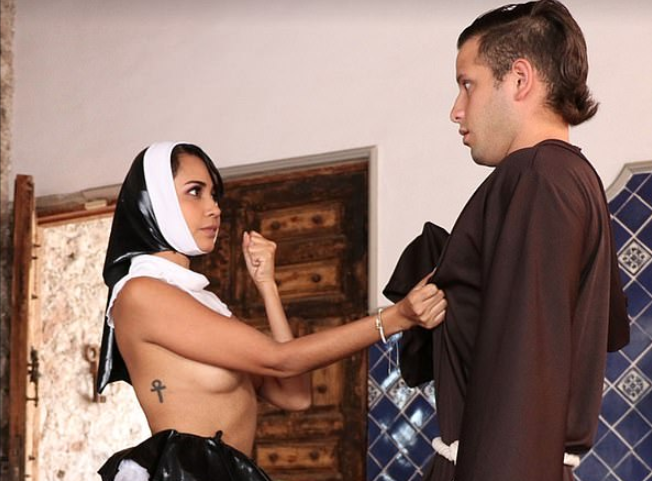 Former Catholic Nun, Former catholic nun who quit the convent makes her debut as a p0rnstar