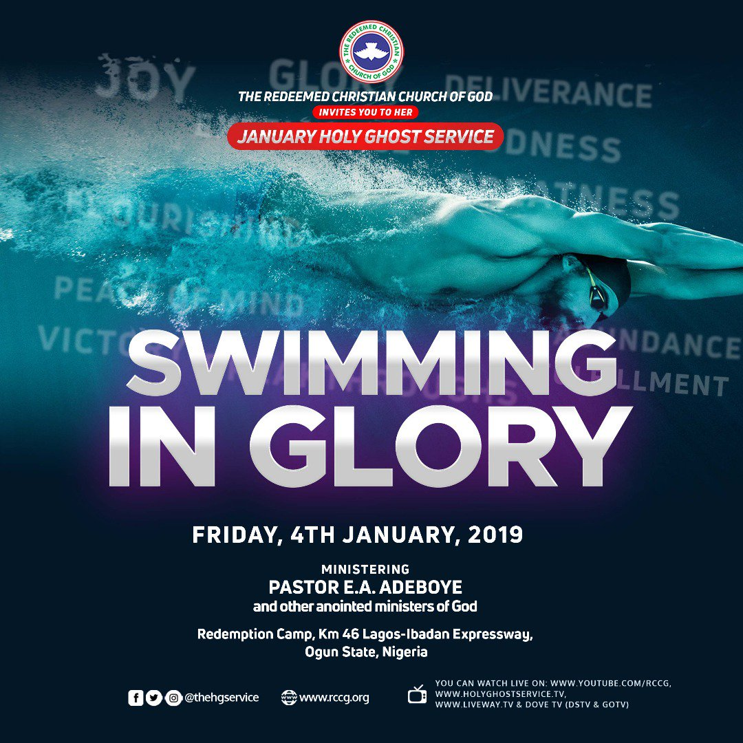 Photo of RCCG Holy Ghost Service January 2019 Live Broadcast