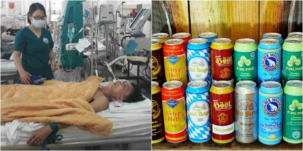 Photo of 15 cans of beer used by doctors to stop man from dying
