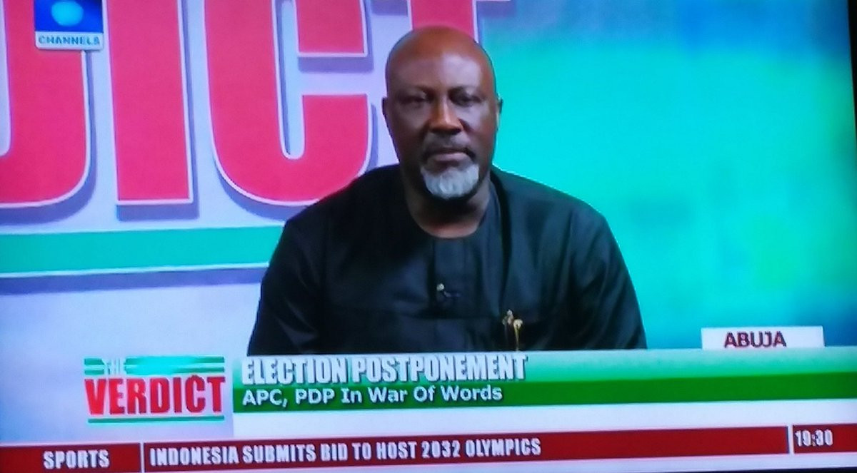 Photo of Buhari's statement on ballot box snatchers confirms he needs to visit London again – Dino Melaye (video)