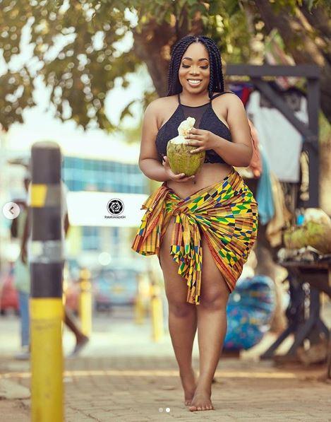 Hotness!! Curvy Ghanaian Actress, Moesha Boduong Stuns In