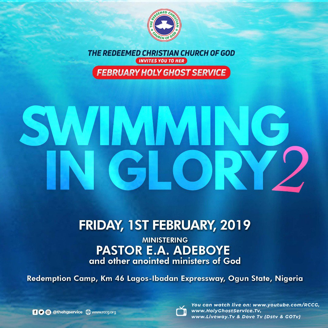 Photo of RCCG Holy Ghost Service February 2019 Live Broadcast