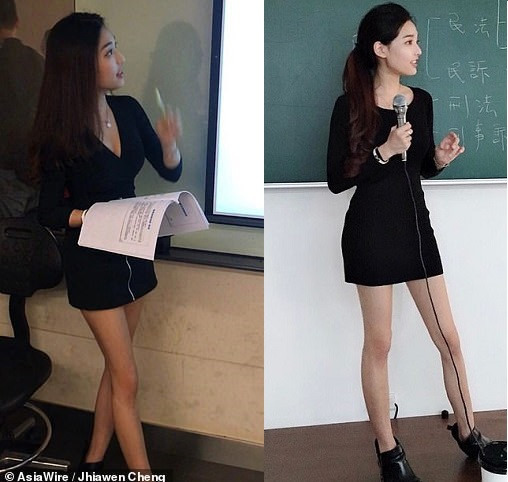 A Taiwanese lecturer at the Chien Hsin University of Science and Technology in Taoyuan has been dubbed 'Taiwan's hottest teacher' online
