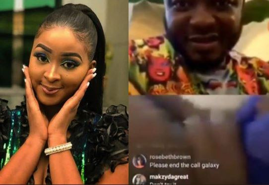 Photo of Actress, Etinosa goes completely naked on MC Galaxy's Instagram live video