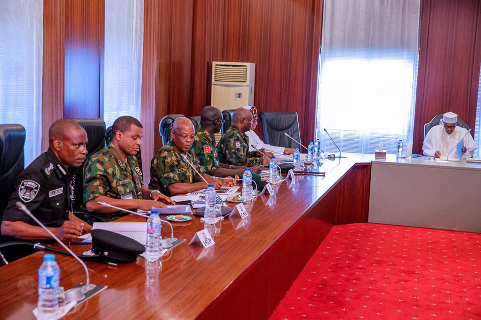 HAPPENING NOW!!! Insecurity: Buhari In Closed-Door Meeting