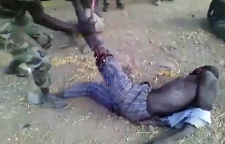video of soldier breaking a man's leg