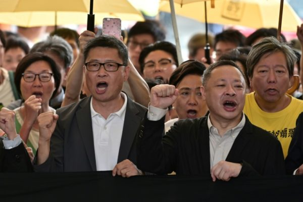 Hong Kong jails 2 professors, 2 other protesters