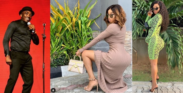 Photo of Toke Makinwa blasts Bovi for joking about her backside
