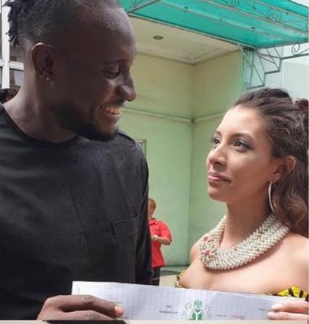 Photo of BBNaija's Angel marries his Canadian girlfriend in Port Harcourt