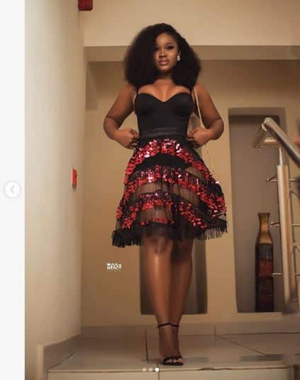 BBnaija's Cee C parades her cleavage in new photos