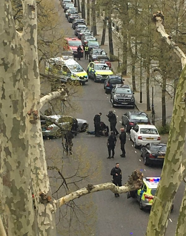 Photo of Police shoot car after it deliberately rams Ukrainian ambassador's vehicle in London