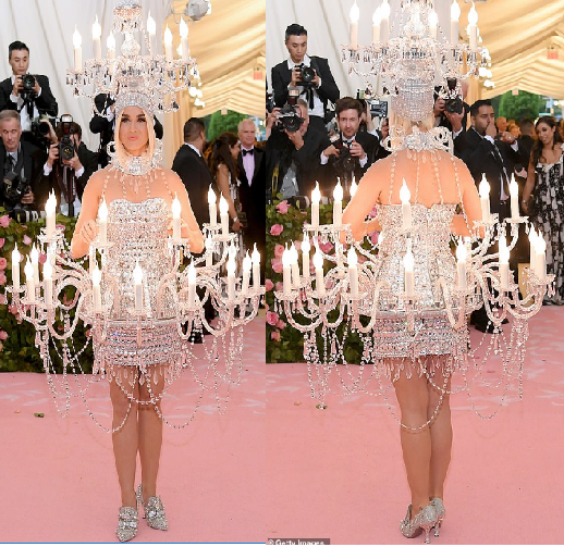 Photo of Katy Perry arrives the Met Gala as a chandelier (photos)
