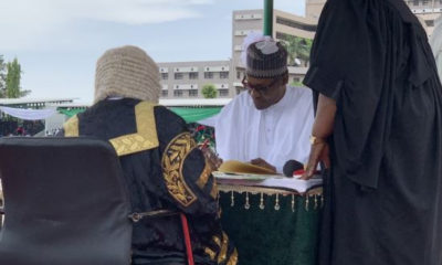 Buhari and VP Yemi Osinbajo sworn-in