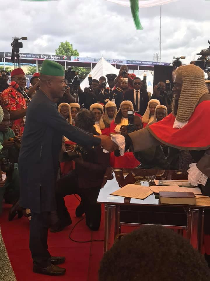 Photo of Emeka Ihedioha sworn in as governor of Imo state (Photos)