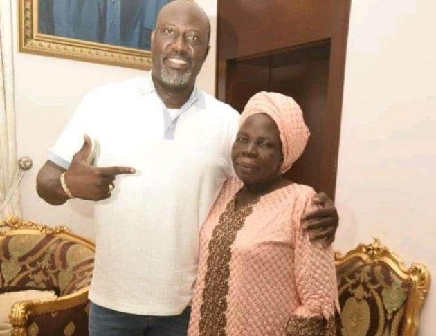 Photo of Dino Melaye's mother is dead